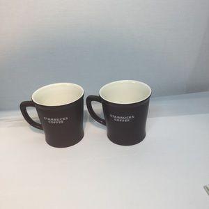Set of Two Starbucks coffee mugs Matt Brown 2008